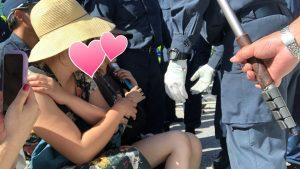 仁藤夢乃が沖縄で女性を使い妨害行為し税金を無駄にする